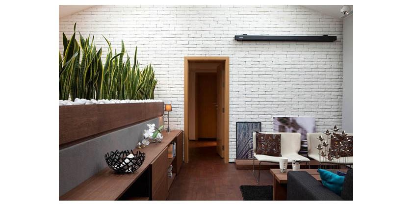 Imitacja starej cegły do wnętrz - biała cegła hitem 2015